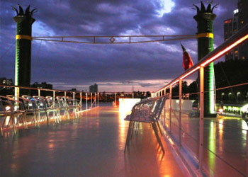 Rooftop deck on board Kookaburra Queen Brisbane