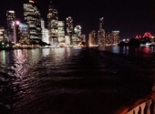 water and city views on board dinner cruise